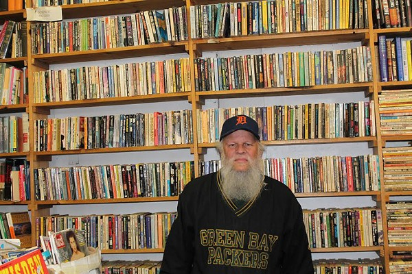 William Foulkes, 58, inside the Big Book Store on Cass Avenue in Detroit. - PHOTO BY RYAN FELTON.