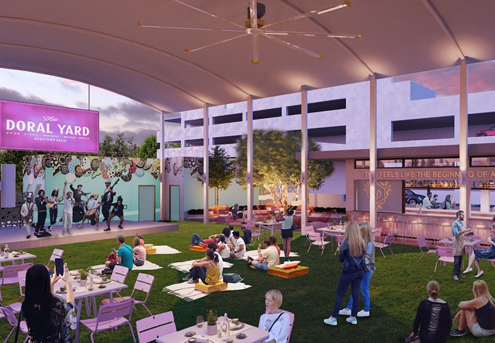 """The Doral Yard will soon unveil """"The Backyard,"""" an outdoor expansion. - PHOTO COURTESY OF SALADINO DESIGN"""