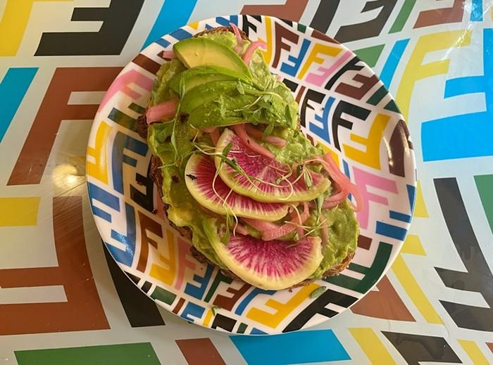 Avocado toast at the Fendi pop-up. - PHOTO BY AALIYAH PASOLS