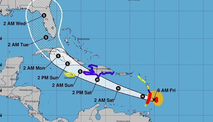 Elsa is now a hurricane. - IMAGE VIA NATIONAL WEATHER SERVICE