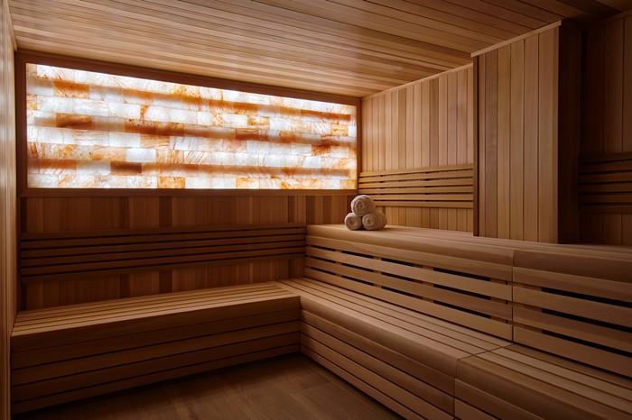 Co-ed sauna at the Spa at Baia Beach Club - PHOTO COURTESY OF THE SPA AT BAIA BEACH CLUB