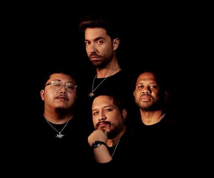 Top clockwise: Tariq Cherif, DJ Five Venoms, Wilson Zarzuela, and Kelvin Li - PHOTO BY SMITH DUROGENE FOR ROLLING LOUD