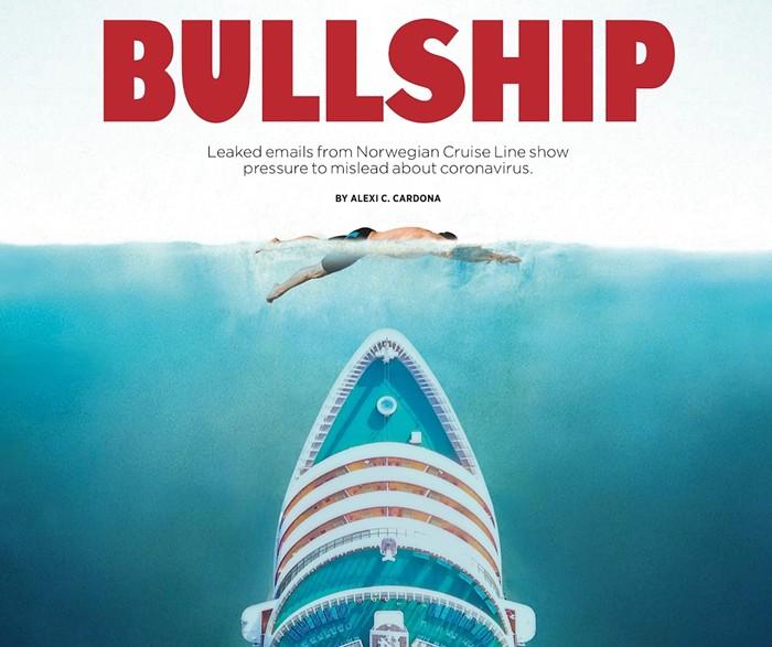 PHOTO-ILLUSTRATION BY MICHAEL CAMPINA. CREDITS: AUDREY BURMAKIN (SWIMMER), STOCKSTUDIO AERIALS/SHUTTERSTOCK (SHIP), ROGER KASTEL (WATER).