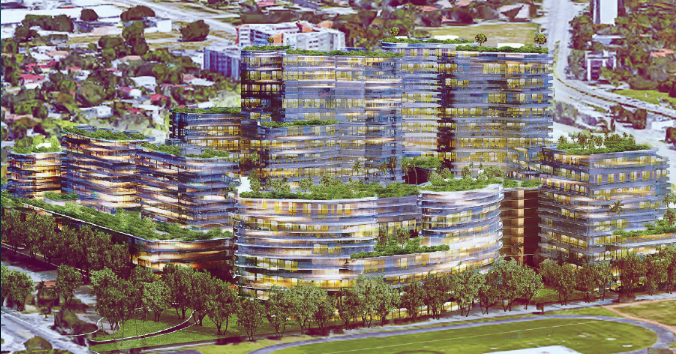 More than three years have passed and PZAB has not forwarded a recommendation to the Miami City Commission onEastside Ridge, a development project proposed for Little Haiti by New York-based SPV Realty. - SCREENGRAB VIA EASTSIDERIDGE.COM