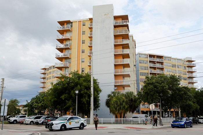 Residents were evacuated from Crestview Towers owing to structural and electrical concerns. - PHOTO BY EVA MARIE UZCATEGUI/GETTY IMAGES