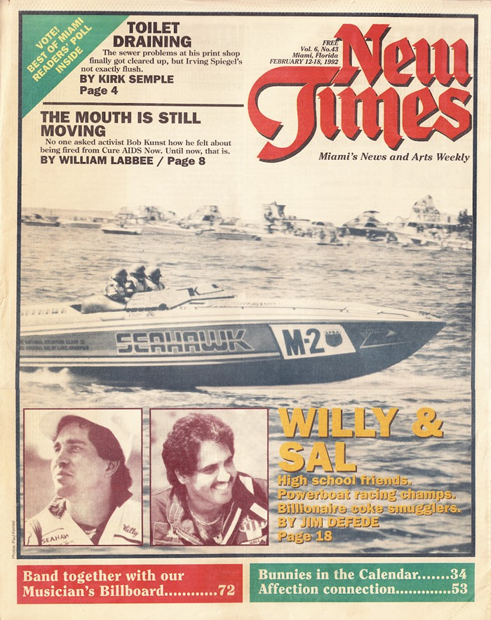 Cover of the February 12, 1992, issue of Miami New Times - MIAMI NEW TIMES