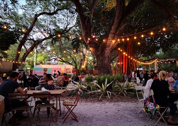 Heartland is the Little Haiti outdoor restaurant that encourages you to get your toes in the sand — literally. - PHOTO COURTESY OF HEARTLAND