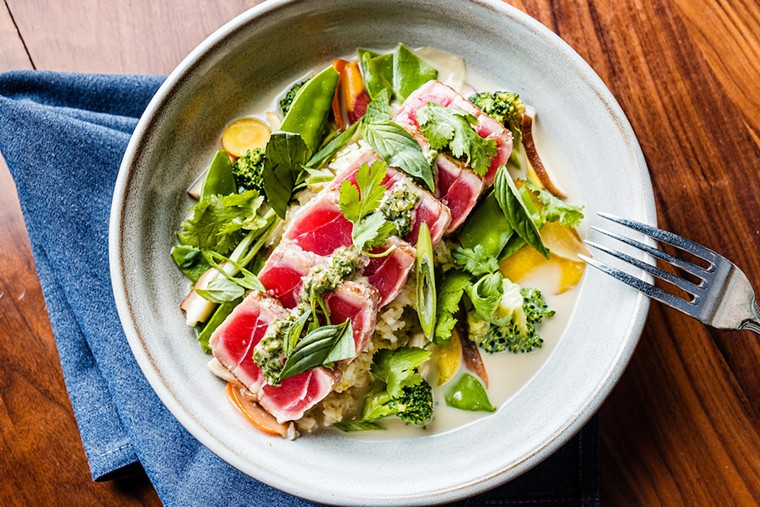 A seared tuna dish at the Henry - PHOTO COURTESY OF FOX RESTAURANT CONCEPTS