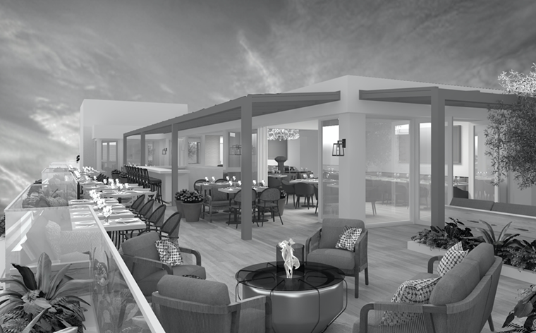 Julia & Henry's will include a rooftop restaurant. - RENDERING BY STAMBUL
