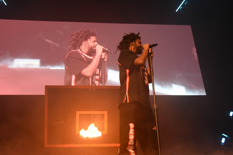 J. Cole brought The Off-Season's album cover to life on stage. See more photos from J. Cole at FTX Arena here. - PHOTO BY MICHELE EVE SANDBERG