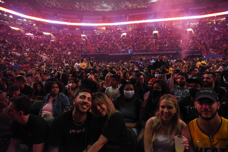 The crowd at FTX Arena. See more photos from J. Cole at FTX Arena here. - PHOTO BY MICHELE EVE SANDBERG