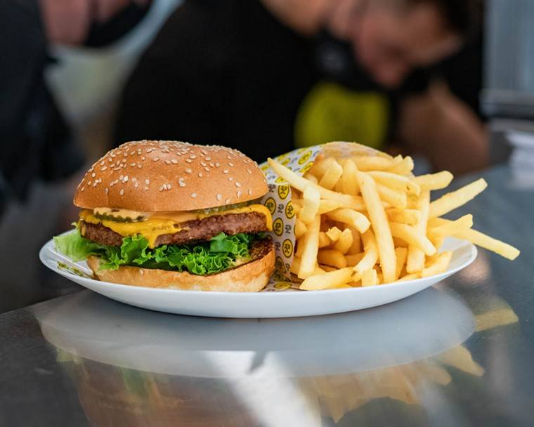 A Stalk & Spade burger and fries - PHOTO COURTESY OF STEELE BRANDS