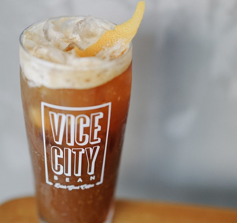 Espresso meets tonic in this refreshing cup at Vice City Bean. - PHOTO COURTESY OF VICE CITY BEAN