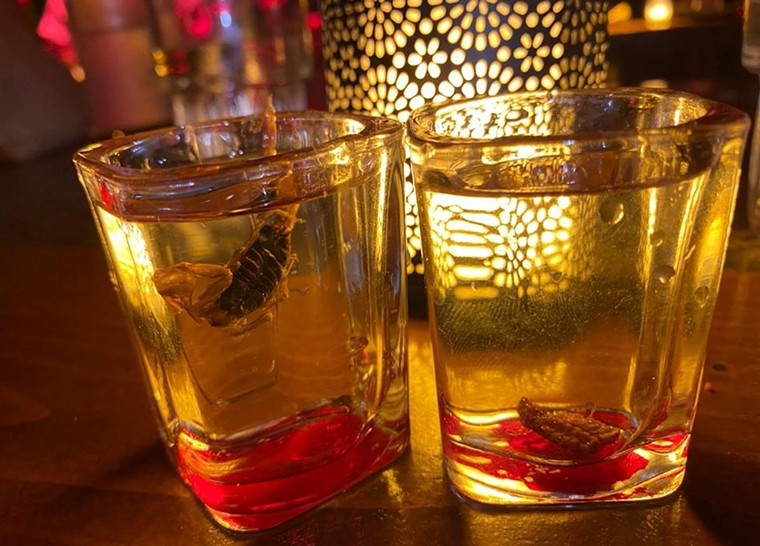 Insect-infused mezcals at Mayami Mexicantina - PHOTO BY HEDONIST/SHEDONIST