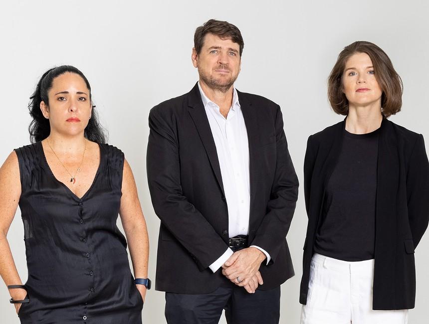 Gallery director Ibett Yanez del Castillo and cofounders Brook Dorsch and Tyler Emerson-Dorsch - PHOTO COURTESY OF EMERSON DORSCH