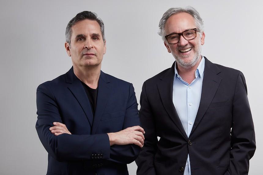 Isaac Perelman Mizrahi (left) and Alfredo Guzman - PHOTO COURTESY OF DOT FIFTYONE GALLERY