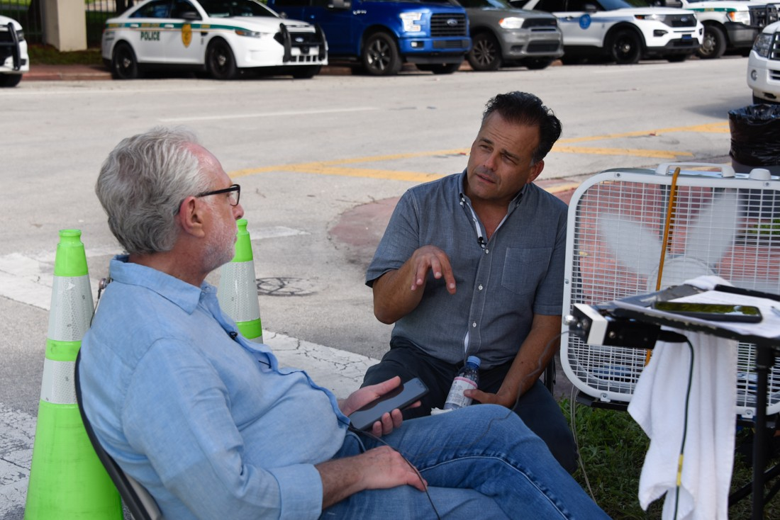 CNN reporter Wolf Blitzer speaks with architect Kobi Karp on Sunday, June 27.