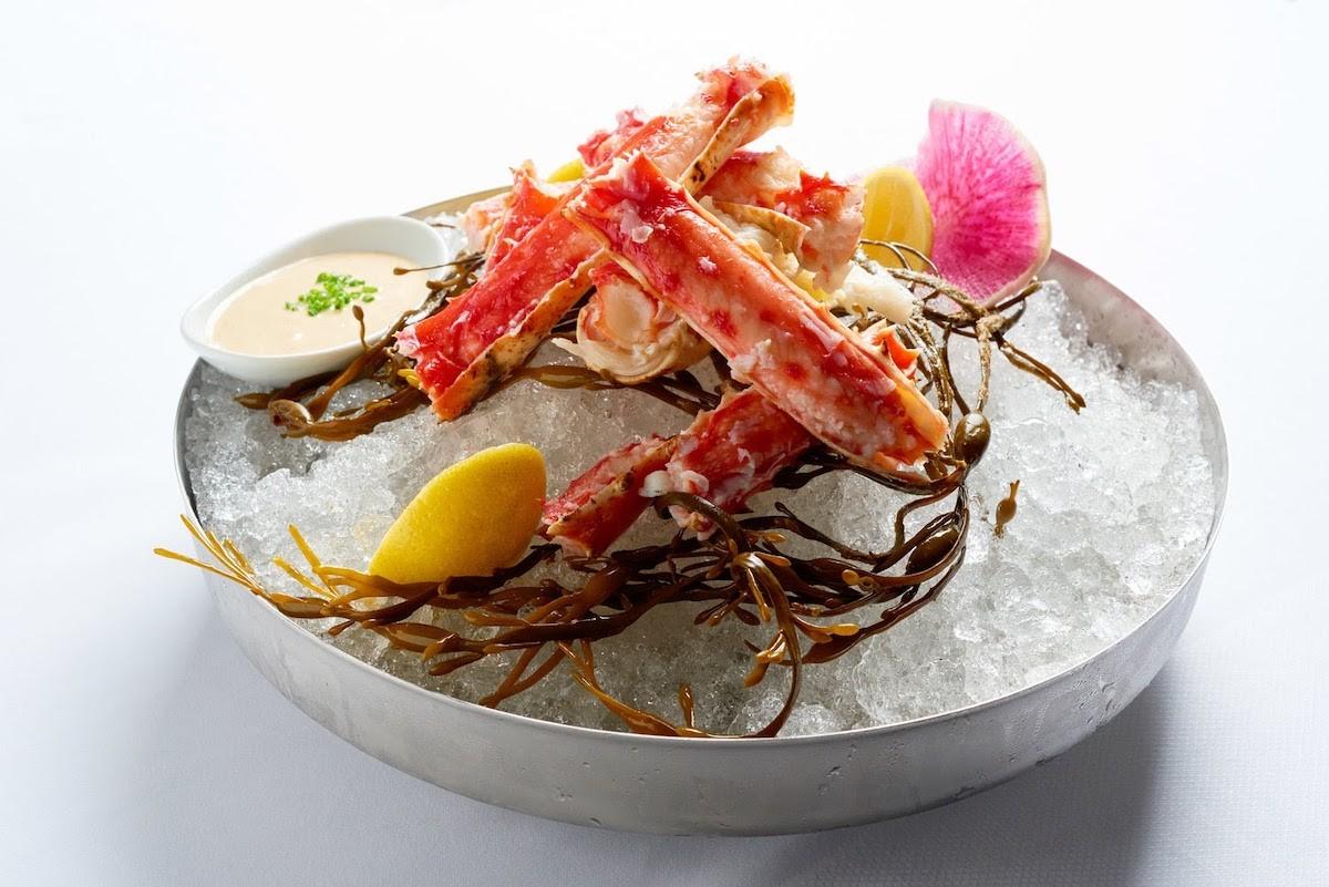 Alaskan king crab at Diplomat Prime.