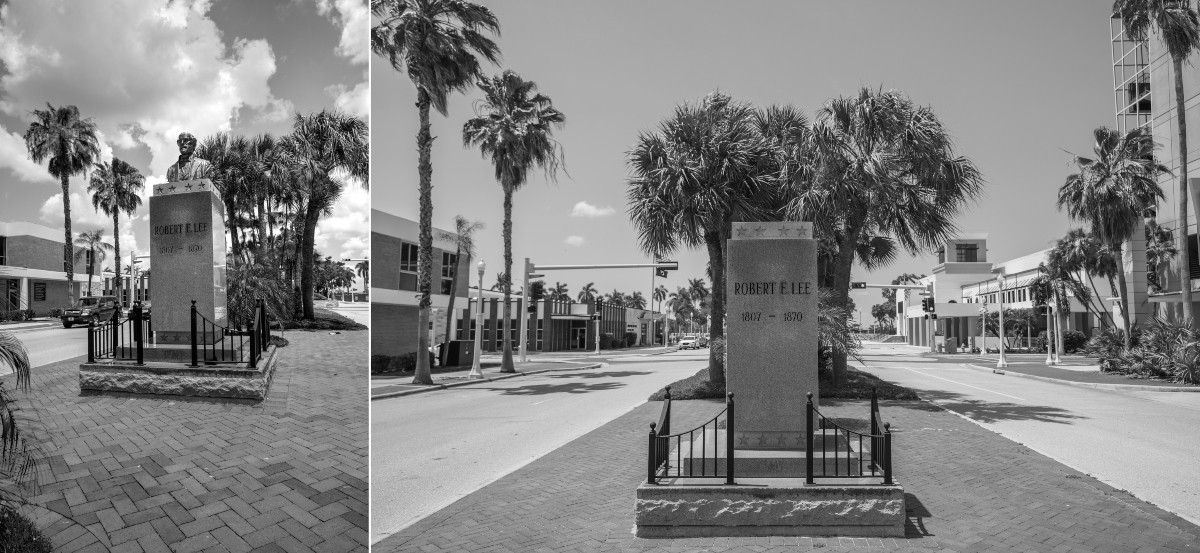A bust of Robert E. Lee was erected in Fort Myers in the mid-1960s after multiple fundraising drives by the now-defunct Laetitia Ashmore Nutt Chapter of the United Daughters of the Confederacy. In June 2020, at the request of the Sons of Confederate Veterans, the bust was removed from its plinth. The Fort Myers City Council voted to take down the pedestal, but that removal is estimated to cost between $50,000 and $60,000, so for now it remains.