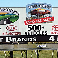 Ugly Billboards 2. Harper Motors/Mid-City Motor World`