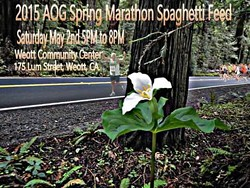 HOSTED BY, THE WEOTT VOLUNTEER FIRE DEPARTMENT - 2015 Avenue of the Giants Marathon Spaghetti Feed