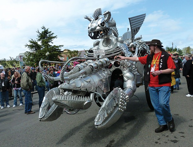 A crustacean contraption runs the race. - PHOTO BY BOB DORAN