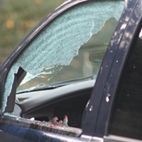 A deputy-involved shooting in McKinleyville on Dec. 15 left a 25-year-old suspect with a gunshot wound to the hand and this SUV pocked with bullet holes.
