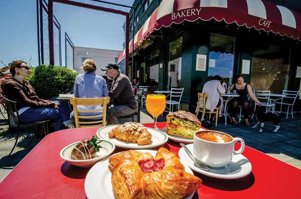 A leisurely al fresco breakfast at - Cafe Brio — a little French, a little Humboldt. - PHOTO BY CHUCK JOHNSON