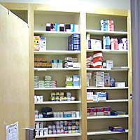 Care for an Éclair? A local practice's drug samples closet.