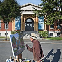 Arts Alive! A painting of the Graves Museum by Jim McVicker. Photo by William Pierson.