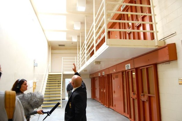 """A """"pod"""" of cells in Pelican Bay's Security Housing Unit. - ANDREW GOFF/NCJ FILE PHOTO"""