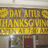 Black Friday A sale banner entices early shoppers.