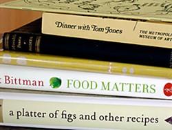 A sampling of cookbooks. Photo by Simona Carini