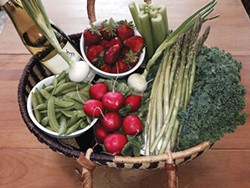 PHOTO BY NORA MOUNCE - A springtime haul from the farmers market.