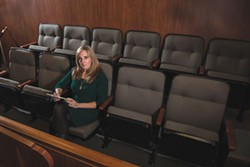 PHOTO BY MARK MCKENNA - After years of avoiding jury duty, Jennifer Savage reported earlier this year. She flinched when she learned that the case she was being considered for involved an allegation of torture.