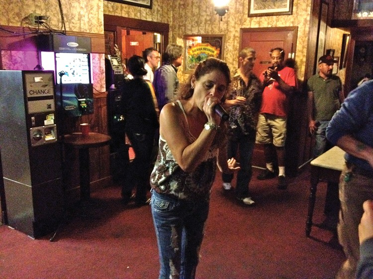 Aggro-oke at the Brass Rail Inn. - PHOTO BY ANDREW GOFF