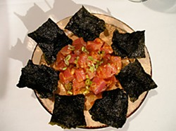 Ahi Tuna Poke with Nori Chips. Photo by Clare Reynolds
