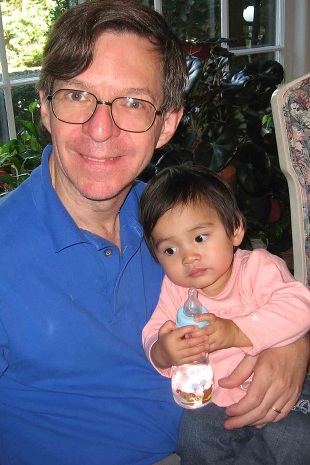 Alan Sokal and daughter Serena in 2007. - ELAINE KAUFMAN