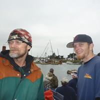 Alex Dzuro (right) saw the tsunami break and twist bits of concrete pier like so many corks.