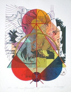 "PHOTO COURTESY OF JANE CINNAMOND - ""Alignment of the Forces"" serigraph by Roger Cinnamond."