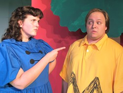 PHOTO COURTESY OF NORTH COAST REPERTORY THEATRE - Amy Chalfant and Evan Needham are the pop culture icons from Peanuts, Lucy and Charlie Brown.
