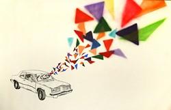 "Ananda Oliveri's ""Change is Inevitable"" (mixed media on paper)."
