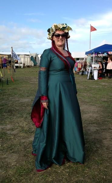 Angela Nelson is having a Jackie O./Anne Boleyn moment. - JENNIFER FUMIKO CAHILL