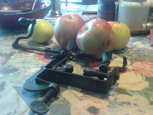 Apples and peeler - PHOTO BY JADA CALYPSO BROTMAN