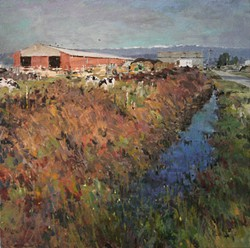"PAINTING BY RANDY SPICER - ""Arcata Bottoms #51."""