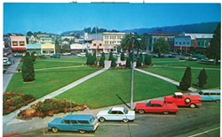 POSTCARD FROM THE STEVE LAZAR HUMBOLDT PROJECT COLLECTION - Arcata Plaza