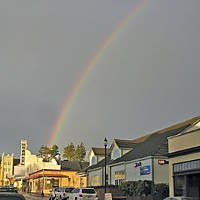 Tale of Two Theaters Arcata Theater Lounge at the end of the rainbow. Photo by Bob Doran