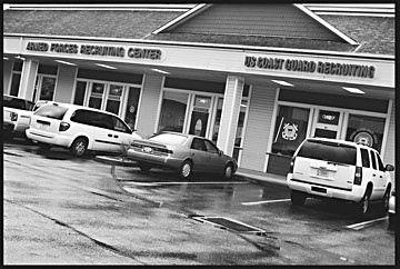 Armed Forces and US Coast Guard Recruiting Center in Eureka. Photo by Yulia Weeks.