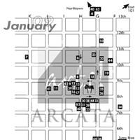 Second Friday Arts! Arcata Arts! Arcata January map