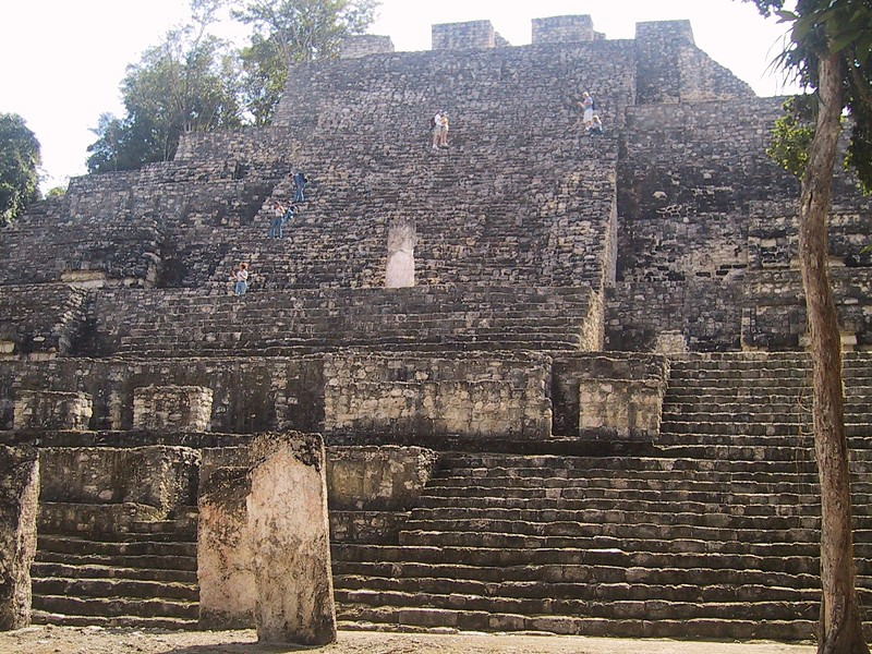 "At 150 feet high, ""Structure 2,"" is the largest building at Calakmul, in the Petén Basin of the Yucatan peninsula. The city was home to an estimated 50,000 people prior to being abandoned early in the 10th century. - PHOTO BY BARRY EVANS"